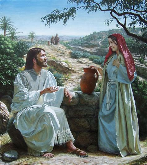 jesus is the living water woman at the well woman at well