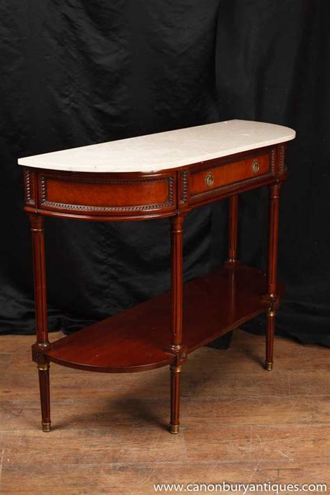 Regency Console Table Mahogany Marble Top Sofa Hall Tables Marble Top Sofa Table