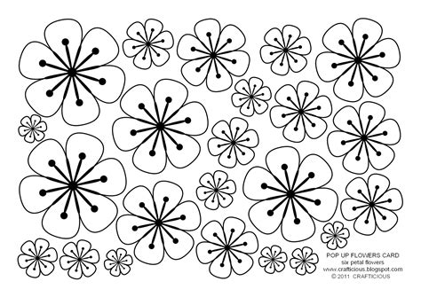 flower pop up card template color flower petals coloring pages free coloring pages