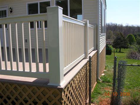 6x6 Porch Post composite deck 6x6 post and model rails