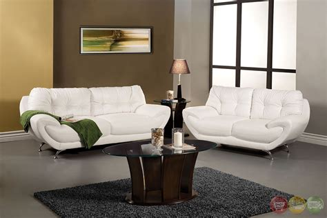 White Living Room Set volos modern white living room set with rounded edges sm6083