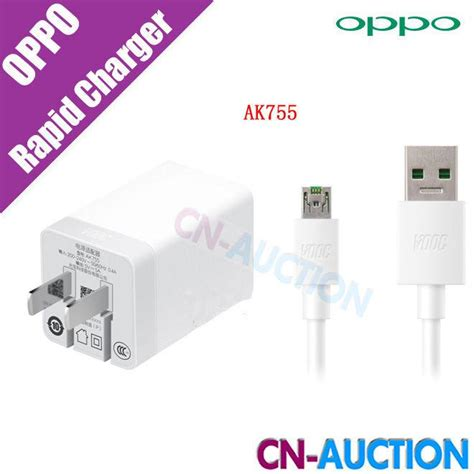 Charger Power Adapter Oppo Ak 717 Original 100 original oppo vooc rapid charger mini ak755 ac adapter for find 7 find 7a oppo r5 n3 phone 5v