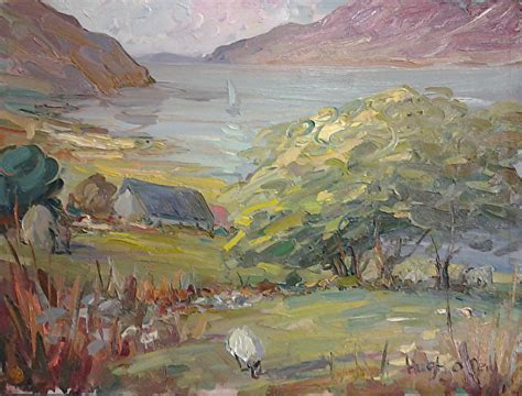 Landscape Artists Northern Ireland Hugh O Neill Work Zoom Connemarra Landscape Painting