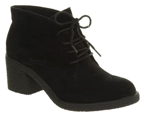 womans suede boots womens office keeper lace up black suede boots ebay
