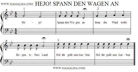 Hejo Spann Den Wagen An German Children S Songs
