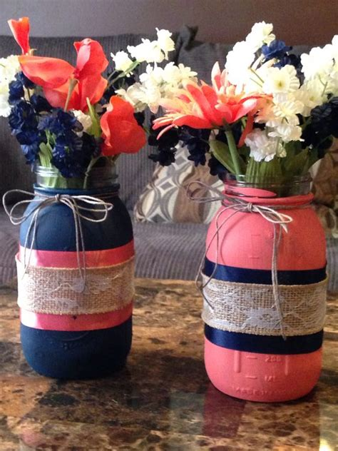 navy blue and coral wedding 18 peach and navy blue inspired wedding color ideas