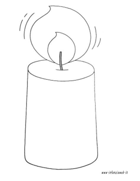candela natalizia da colorare infanziaweb categoria natale immagine candela