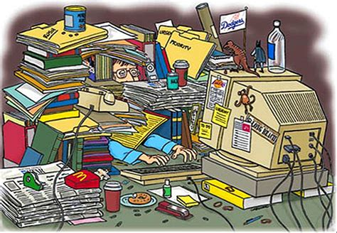 Cleaning House by Messy Desk Clipart 26