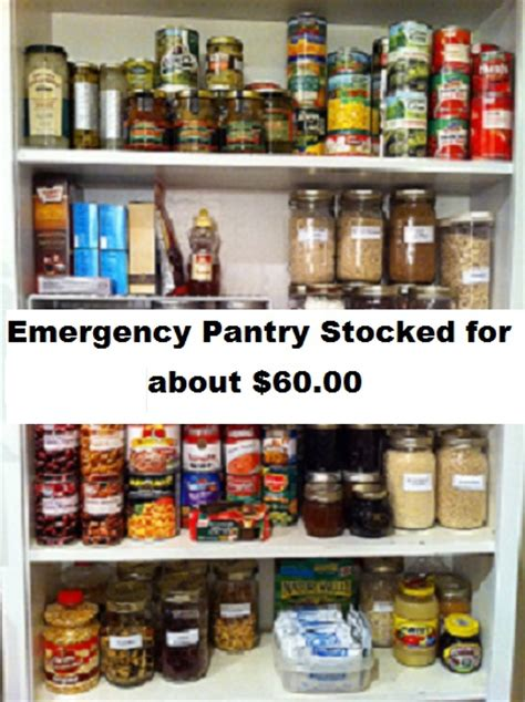 Emergency Pantry by Emergency Pantry Stocked For About 60 00 The Prepared Page