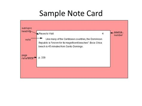 Bibliography Note Card Template by 100 Note Cards Crls Research Goes On A