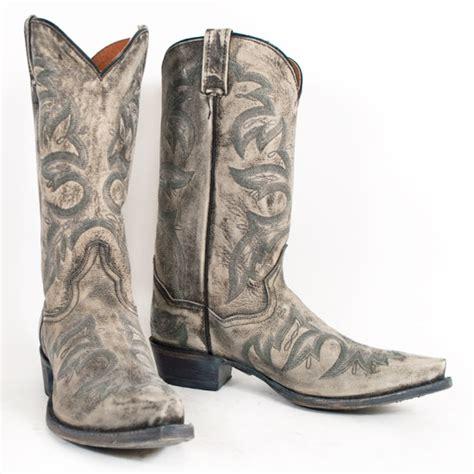 mens grey cowboy boots dan post alcalas western wear s grey distressed