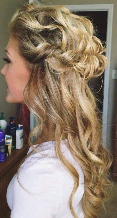 casual prom hairstyles down 26 stunning half up half down hairstyles see best ideas