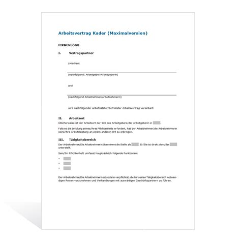 Vorlage Kündigung Arbeitsvertrag Bitte Aufhebungsvertrag Muster Kadervertrag Maximalversion