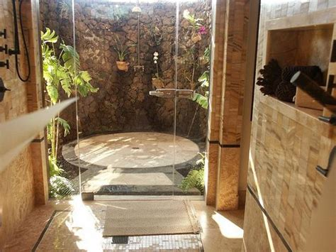 outside bathrooms 30 outdoor shower design ideas showing beautiful tiled and