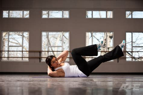 ace fit ab exercises supine bicycle crunches