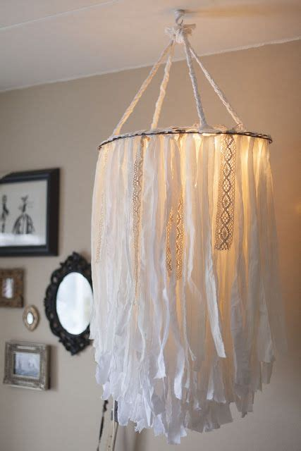 Chandelier Fabric 17 Best Ideas About Fabric Chandelier On Ribbon Chandelier Ribbon Mobile And Shabby