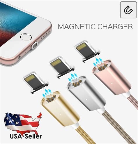 new magnetic adapter charger lightning usb cable for iphone 7 6s 6 5s plus 5c ebay