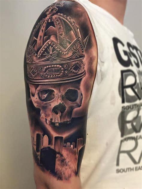 best crown tattoo designs graveyard skull crown best ideas designs