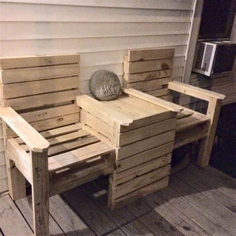 chair bench diy diy pallet double chair bench