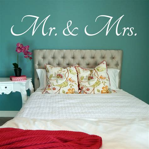 Mr And Mrs Bedroom Mr And Mrs Wall Decal Mr And Mrs Decal Bedroom Decal