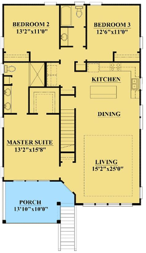 Low Country Floor Plans Narrow Lot Low Country Home Plan 15061nc 1st Floor