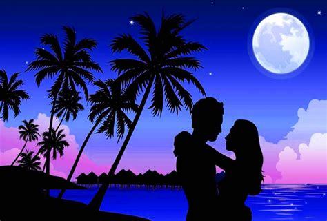 imagenes romanticas bajo la luna fondo escritorio paisaje amor bajo la luna