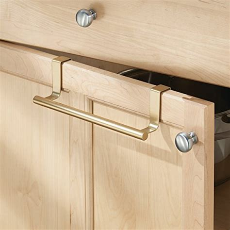 kitchen cabinet towel bar mdesign over the cabinet kitchen dish towel bar holder 9 quot pearl gold new ebay