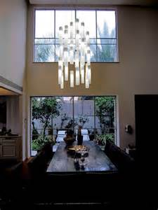 Contemporary Dining Room Pendant Lighting Tanzania Chandelier Contemporary Dining Room New York By Shakuff