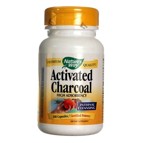 Volume Charcoal Shoo Detox by Nature S Way Activated Charcoal 100 Caps Evitamins