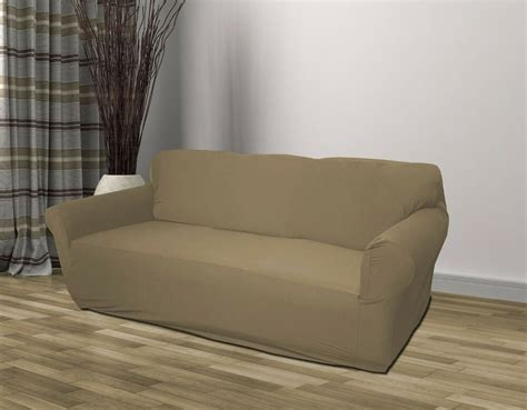 Slipcover For by Taupe Jersey Loveseat Stretch Slipcover Cover