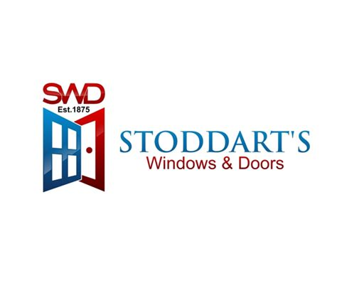 doors and company stoddarts windows and doors logo design jellyfish