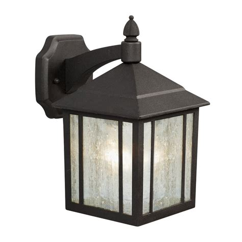 galaxy outdoor wall light shop galaxy 11 625 in h black outdoor wall light at lowes com