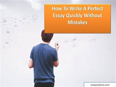 How To Write Essay Fast by How To Write A Essay Quickly Without Mistakes Authorstream