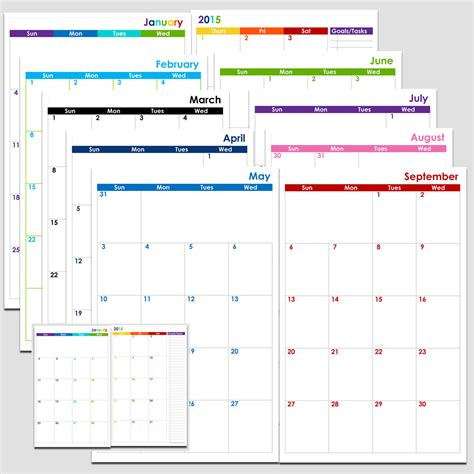 free printable 2016 2 page monthly calendar 5 5 x 8 5 best photos of 2016 calendar 12 months 1 page 12 month