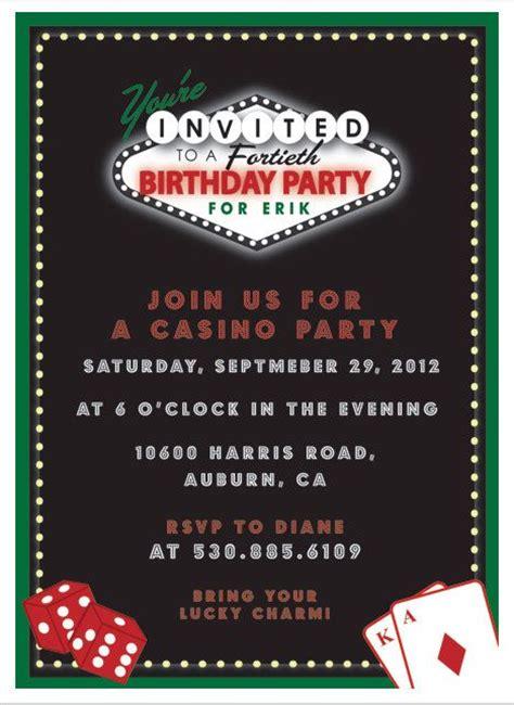 Casino Birthdasy Party Invitation Printable Invitation By Itsy By Itsybelle 15 00 Casino Casino Invitation Template Free