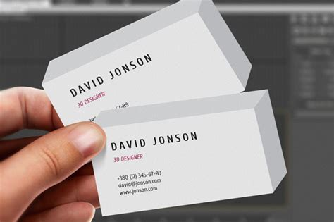 3d business card template 3d business card business card templates on creative market