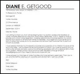 Business Letter Sample Short short notice resignation letter resignation letters livecareer