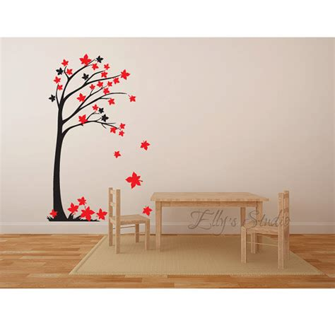 tree wall decor decal sticker wall art branches and leaves