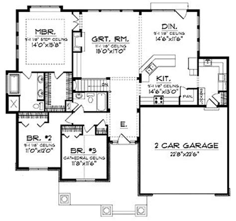 1800 sq ft open floor plans ranch with a spacious open floor plan hwbdo13934 cottage house plan from builderhouseplans