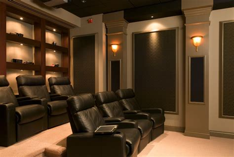 home theater room decor in home movie theaters contemporary home theater