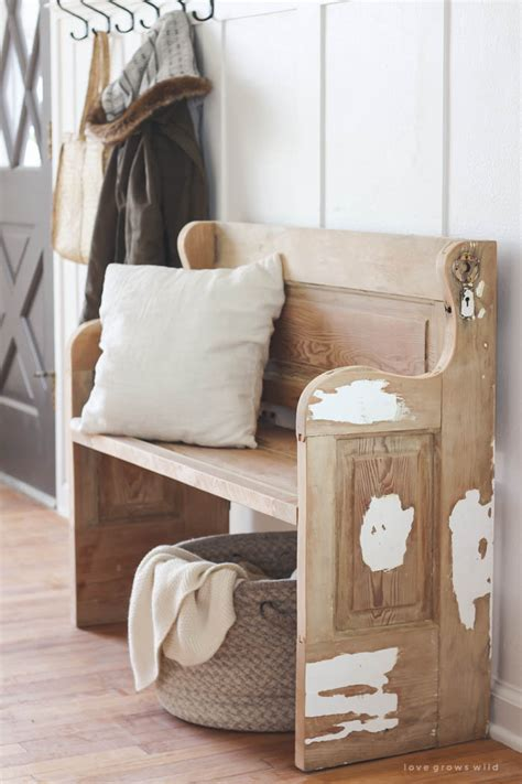 doorway bench repurposed old door ideas the idea room