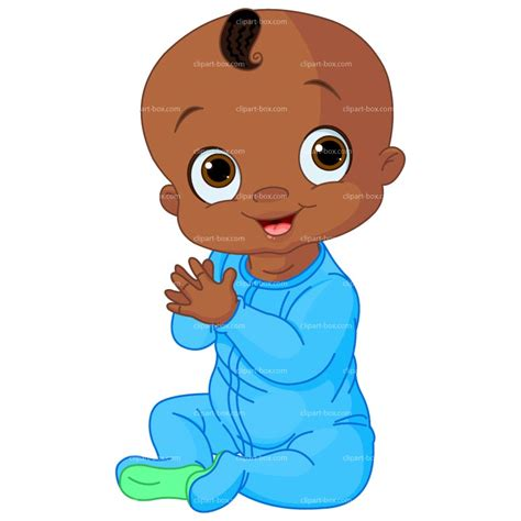 Clipart black baby boy royalty free vector design