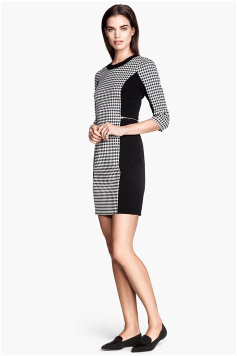 Dress Houndstooth houndstooth dress black white sale h m us