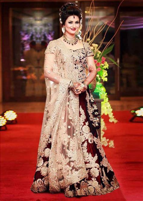 Anjani Maroon buy maroon embroidery satin banglory ghagra choli