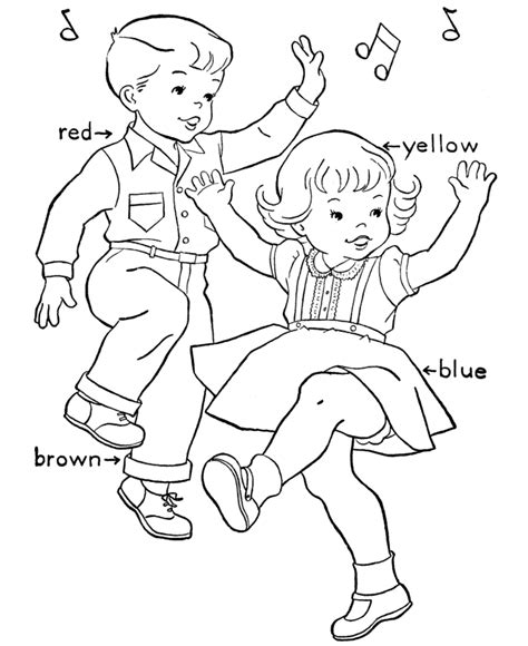 free dance coloring pages coloring home