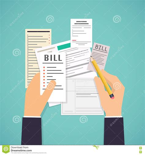 Banks Pays Lunch Bill by Paying Bills Holding Bills And Pencil Payment Of