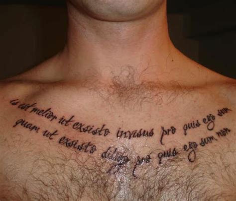 chest tattoo latin latin text tattoo on chest tattooimages biz