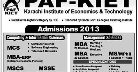 Mba Erp In Karachi by Pak Kiet Karachi Institute Of Economics Technology