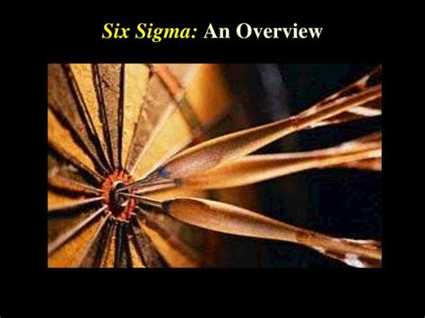 Mba And Six Sigma by Six Sigma An Overview Mini Mba Free