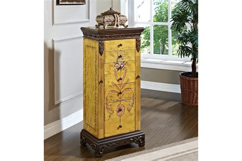 hand painted jewelry armoire masterpiece antique parchment hand painted jewelry armoire